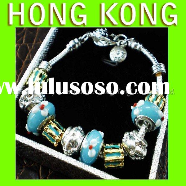 Authentic Discount Original style Beads GiftsCharms Silver Jewelry Murano bead  Bracelet Free Sample