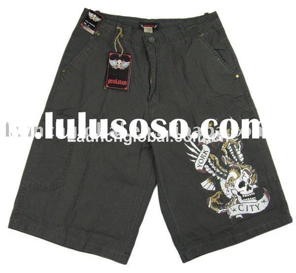 Fashion Men Printed Cargo Shorts,100% Cotton