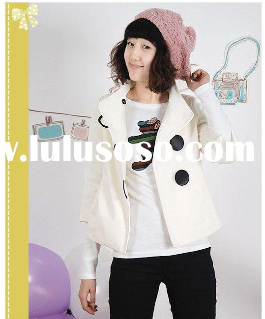 Fashion clothes Korean Style Cute Saucy Untied Big Button little-girl clothes Pink, White, Black R92