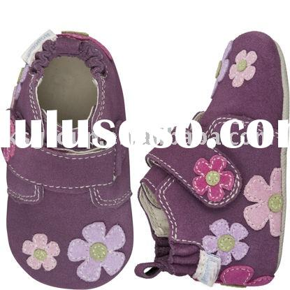 Fashion soft leather baby shoes