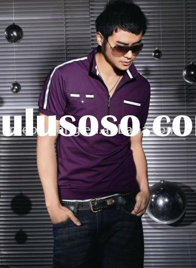 Hot Sales Short Sleeve collared Neck Cotton shirt