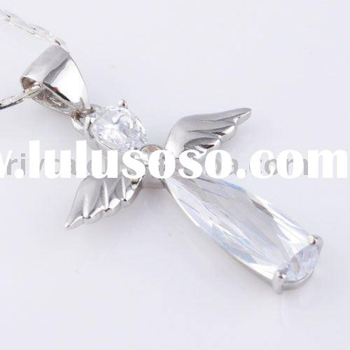 Latest charm and pure 925 silver Angel Wing pendant for jewelry accessory
