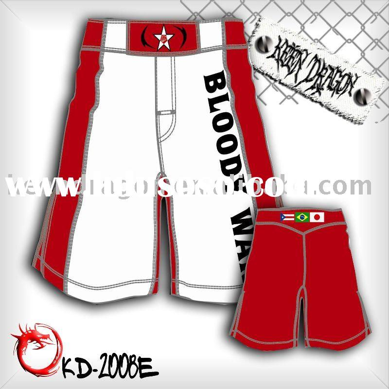 Men's boxing 4-way stretch printed mma fighting shorts