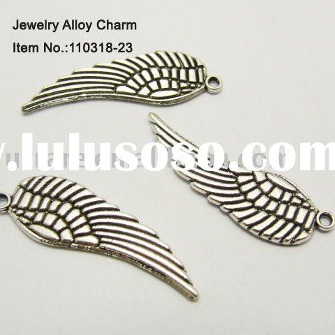Nice Angel Wing Shape Alloy Jewelry Charms