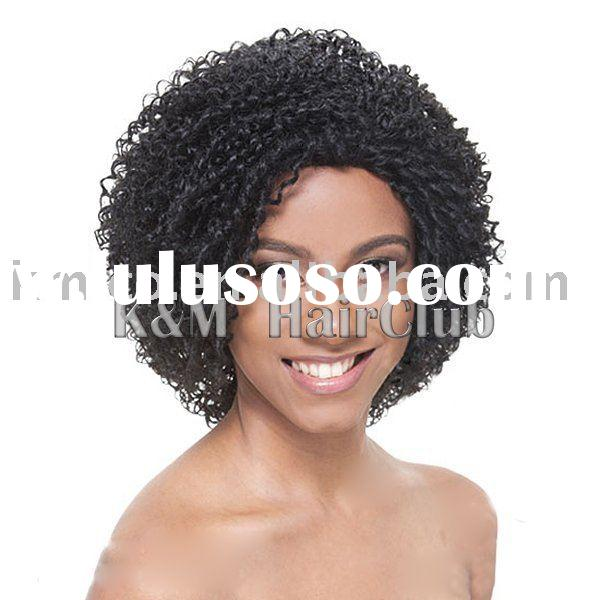 Stock Afro curly human hair wigs cheap wigs