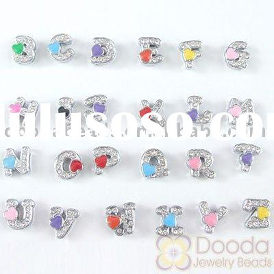 Wholesale silver plated alloy Letter Charms, Alphabet Charms, Alphabet Jewelery, Letter accessory (J