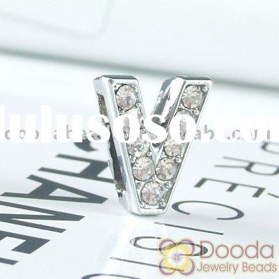 Wholesale silver plated alloy Letter Charms, Letter Beads, Alphabet Charms, Alphabet Beads (JC-Z1202
