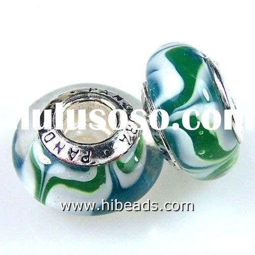 authentic murano glass beads 925 sterling silver PLB0272