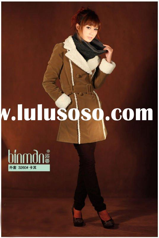 casual short  style coat for young lady