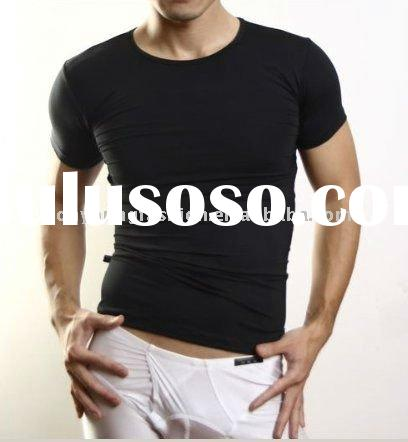 europestyle men's white skin tight plain short sleeve t muscle shirt promotional