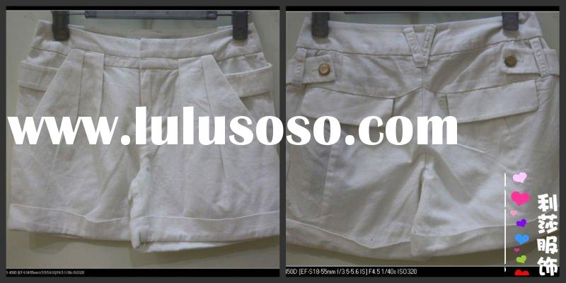 fashion short pant bottom with cuff