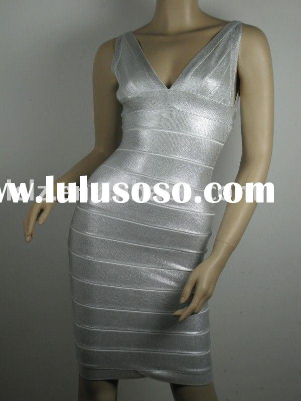 h037 2011 trendy lady short silver prom dress pageant gown