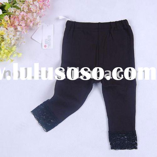 lace cotton baby girl cute leggings pants