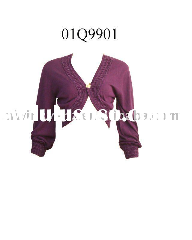 ladies knitted short shrug cardigan