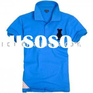 short sleeve cotton polo shirt for men