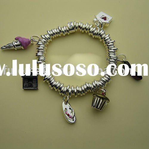 sterling silver charms bracelet LC0095