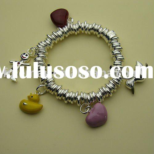 sterling silver charms bracelet LC0096