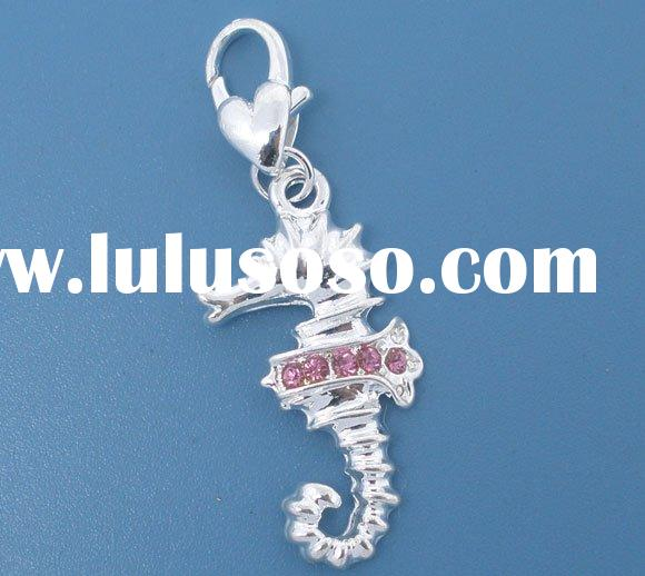 10 Sea Horse Clip On Charms. Fit Link Chain Bracelet