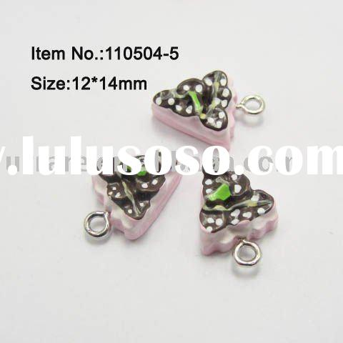12*14mm Pink Resin Cake Jewelry Charm