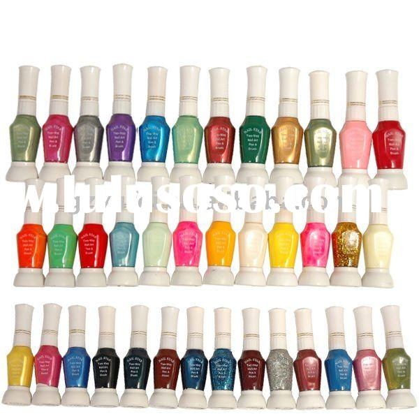 2011 hot sell various colors two way Nail polish pen/drawing nail art pen