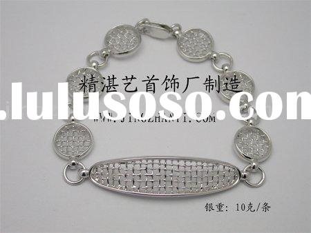925 sterling silver bracelet with hollow charms--custom make