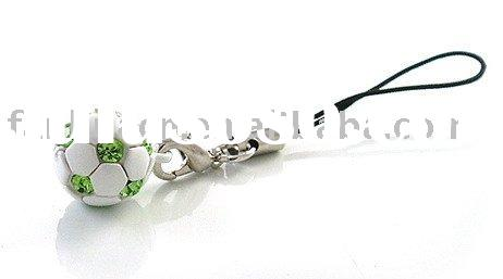Cute cheap Soccer/Ball Cell Phone Charms