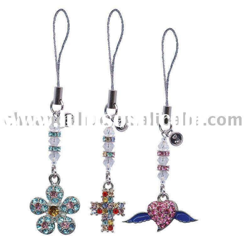 Fashion Wholesale Crystal Cell Phone Charm
