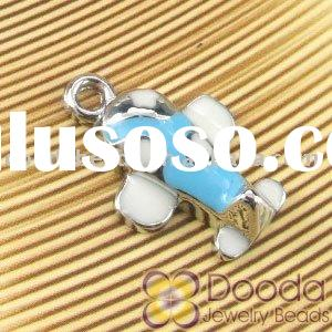 Fashion alloy enamel charms, Italian charms, key charms, lovely pendant charms