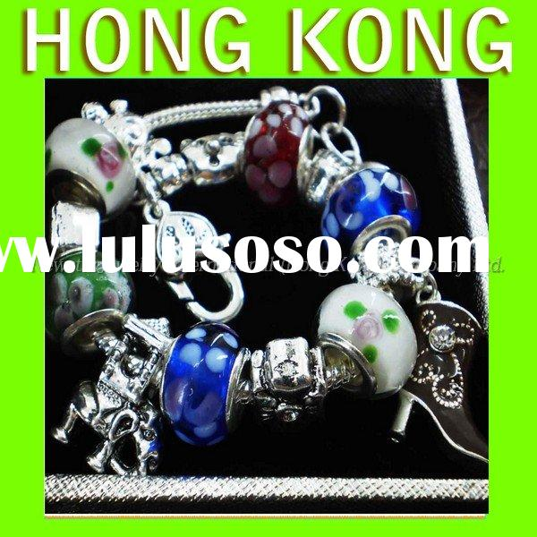 Gift Chamilia Beads Charms Bracelet Cheap Silver Jewelry Free Sample A155