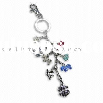Horse Racing Theme Keychain, Made of Pewter-alloy