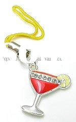 Martini Glass Wholesale Cell Phone Charm