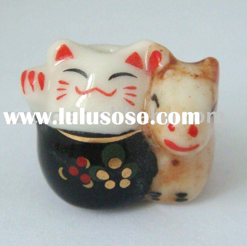 New Ceramic Lucky Cat& Horse Cell  Phone Charm