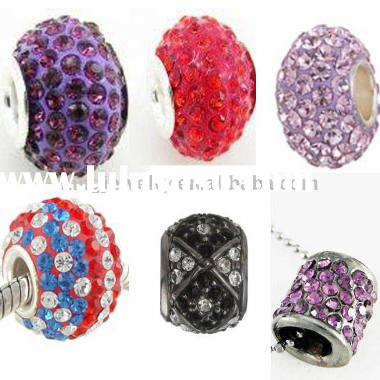 Resin Rhinestone european beads/Fashion pave beads/accessories jewelry finding/charm base metal bead