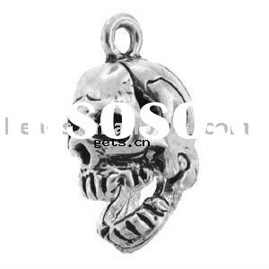 Sterling Silver Skull Halloween Fashion charms