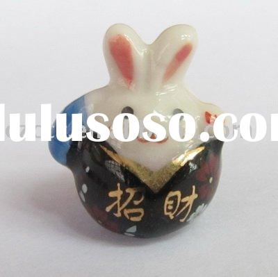 Wholesale 2011 Porcelain Rabbit Cell Phone Charm Gift