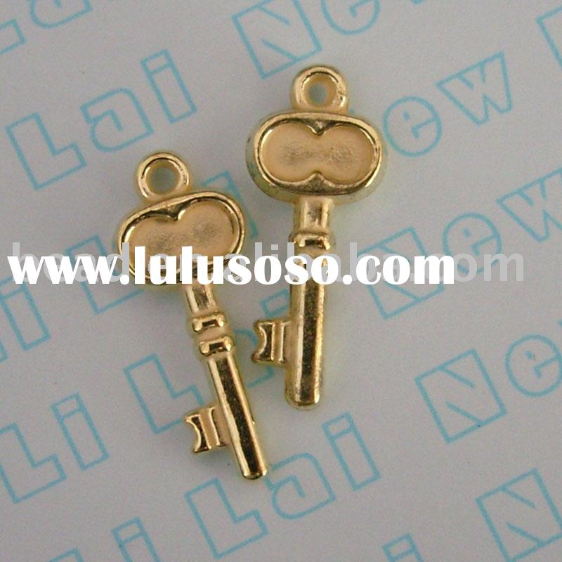 key shape plastic charm ,CCB(ABS) 3327aa10 jewelry  finding