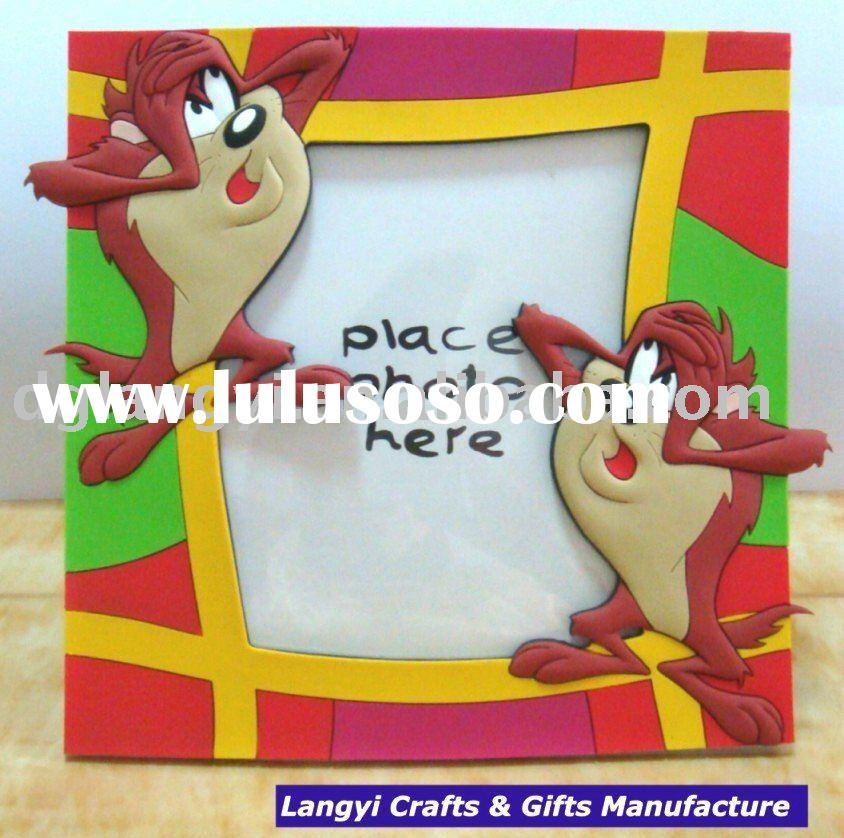 3D Cartoon Personages Soft PVC Funny Photo Frame