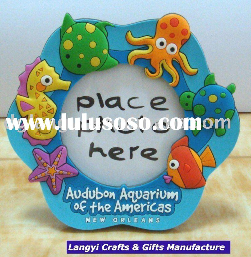 3D Ocean Animal Soft PVC Funny Photo Frame