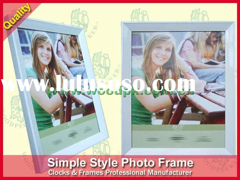 """8x10"""" white color polystyrene photo picture frame, quality corner-joint"""
