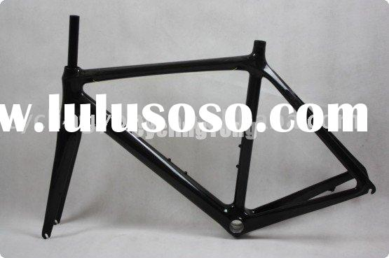Carbon frame road bicycle
