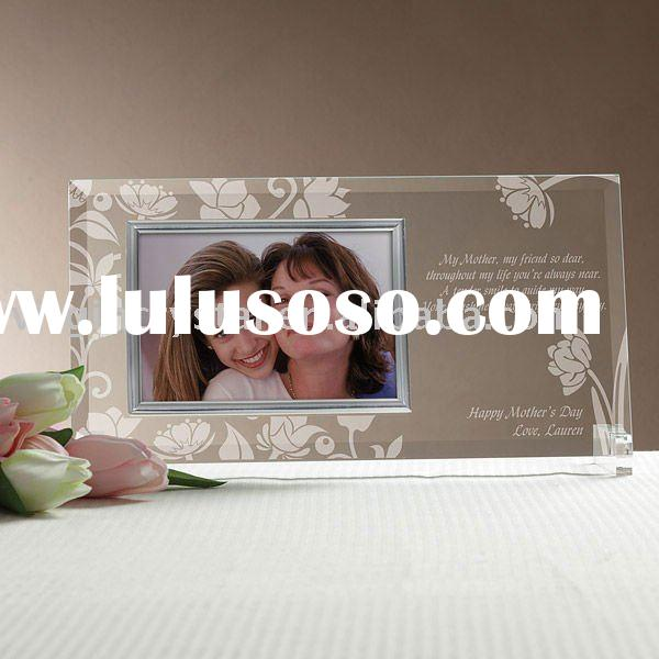 Crystal Glass Personalized Reflections Picture Frame Mother Day's Gifts