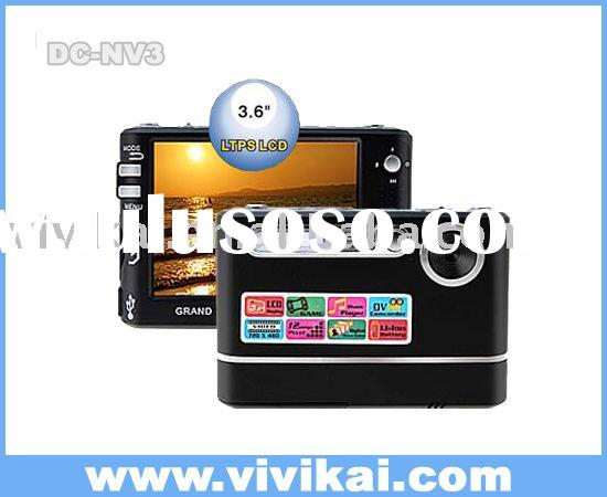 Digital Camera with 3.6 inch LCD/Games/MP3/Electronic Photo Frame(DC-NV3)