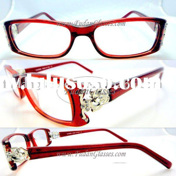 Fast&Free shipping optical frames brand eyeglasses full-rim optical frames CH Y06 red