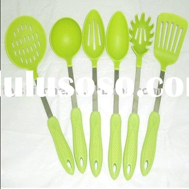 Hot Selling Bright Elegant Green Silicone Kitchen Tools