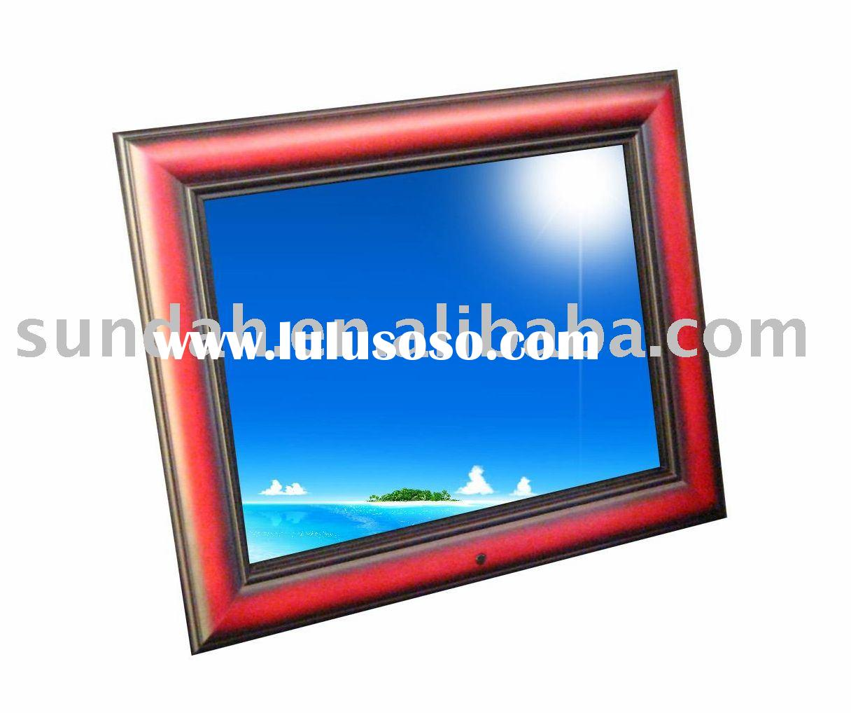 "Magnificent design:15"" cherry wood digital photo frame"