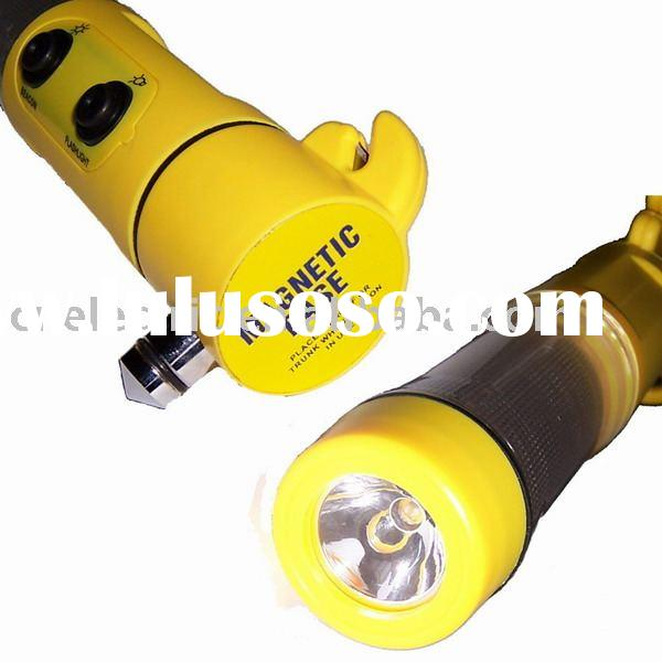 Multifunctional Auto / Car Emergency LED Flashlight with Hammer and beacon