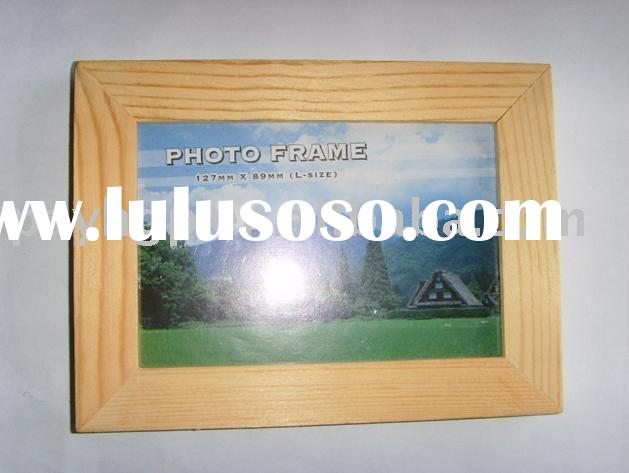 Natural wood photo frame/cheap picture frame/house decorative frame/simple frame