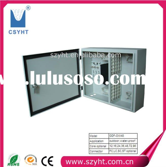 Outdoor wall-mount 48-cores Optical fiber distribution frame & Water-proof feature