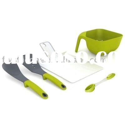 Progressive International Silicone Kitchen Utensil with a Newest Folding Chopping Board