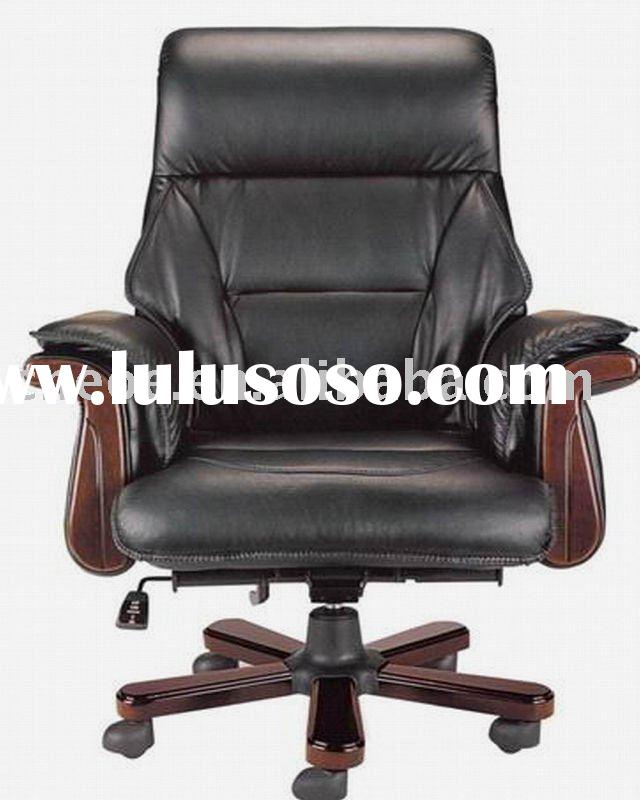 Wooden frame leather upholstery boss chair